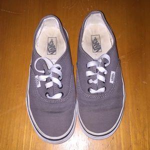 e74d4c3a06cf Gray kids Vans size 3